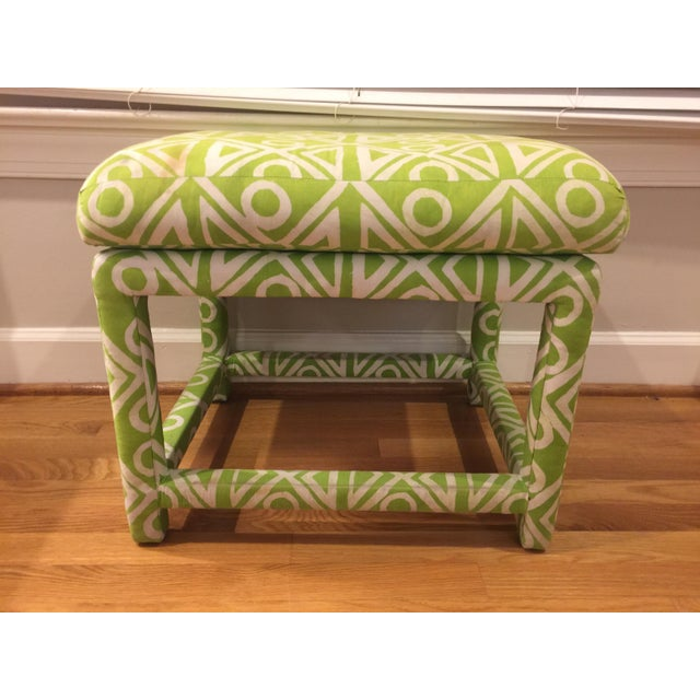 Baughman Style Mid-Century Parsons Ottoman - Image 8 of 8