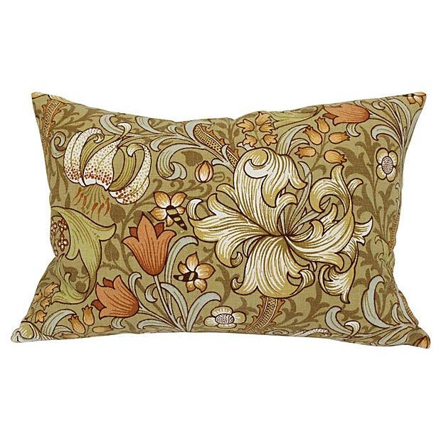 William Morris Lilly Pillows - A Pair - Image 2 of 4