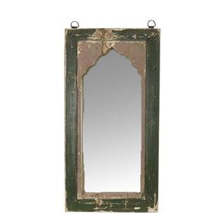 Petite Jharoka Painted Green Mirror