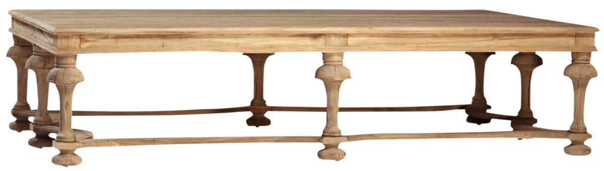 Elm Turned Leg Coffee Table