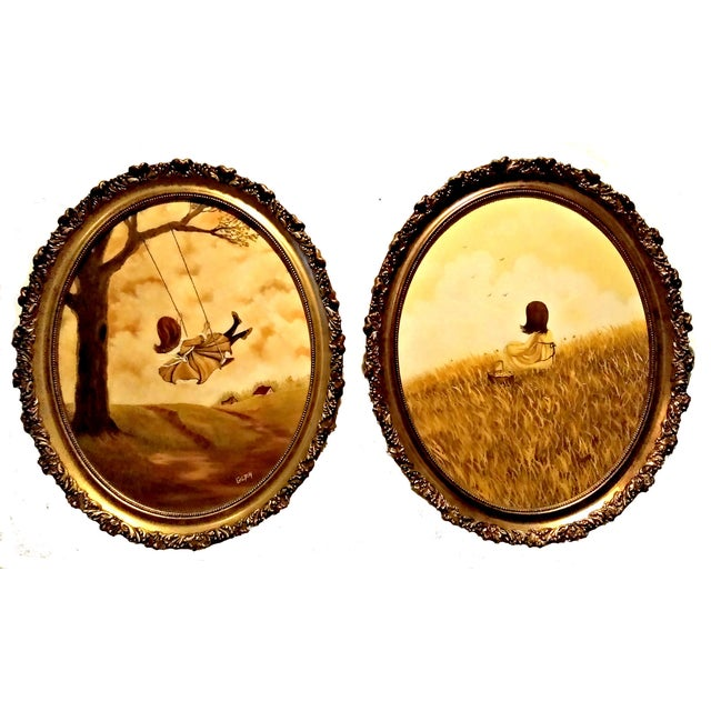 Image of Original Oil Paintings by Gilpin - A Pair