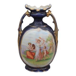 Vienna Decorative Cobalt Vase