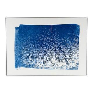 """Blue Lake Ripples"" Cyanotype Print"