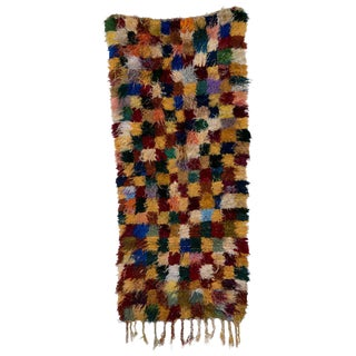 "Moroccan Boucherouite Rag Carpet - 6'5"" x 2'10"""