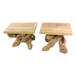 Modern Root Tables - Pair