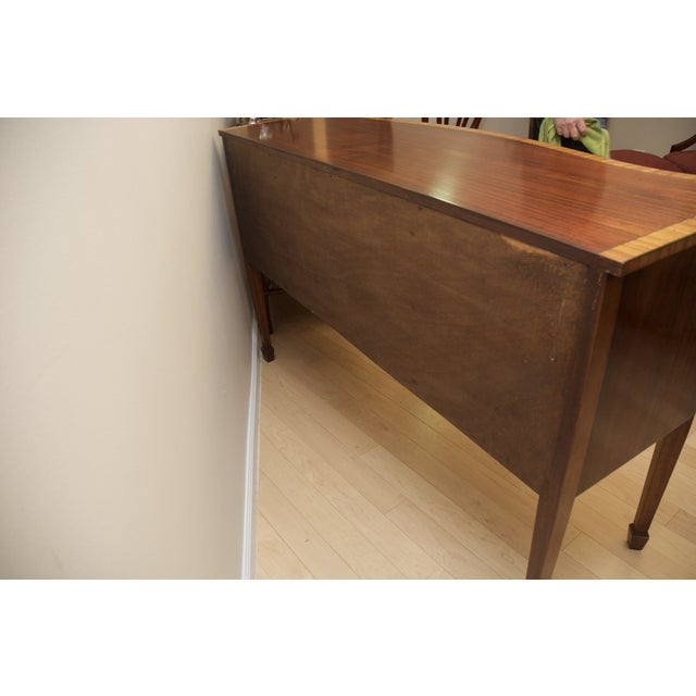 Antique Mahogany Serpentine Buffet Sideboard - Image 3 of 10