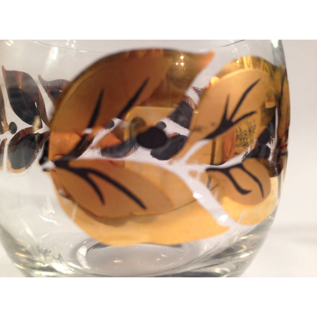Gold & Black Roly Poly Bar Glasses - S/6 - Image 8 of 8