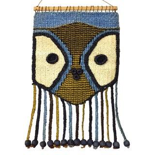 Don Freedman Style Boho Woven Owl Wall Hanging II