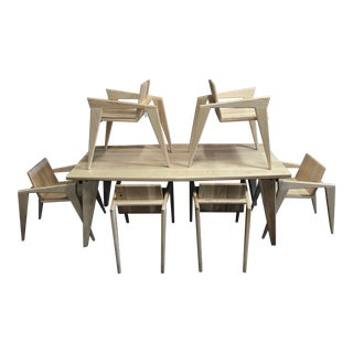 Custom Palomino Solid Ash Dining Set - Set of 7