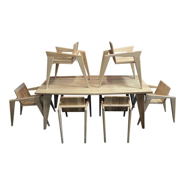 Custom Palomino Solid Ash Dining Set - Set of 7 - Image 1 of 7