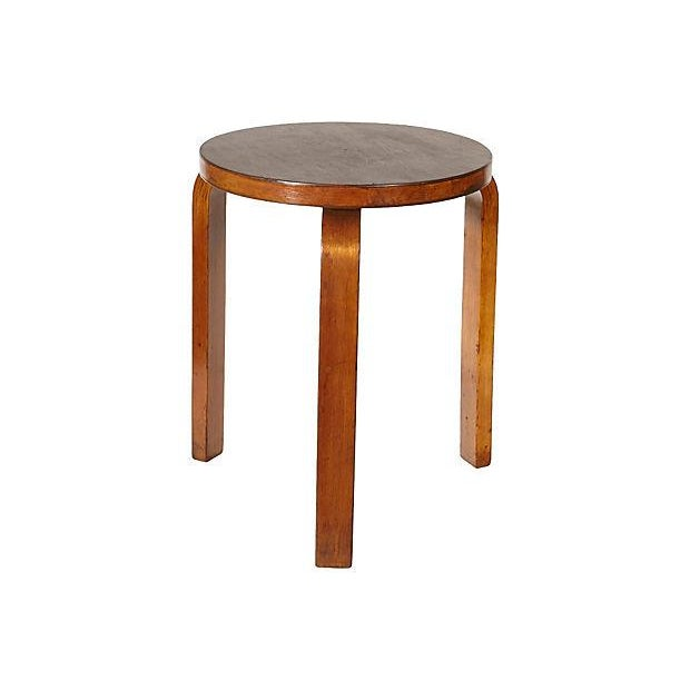 alvar aalto maple round side table chairish. Black Bedroom Furniture Sets. Home Design Ideas