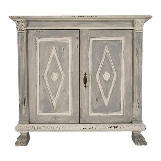 Italian Baroque-Style Antique Painted Cabinet