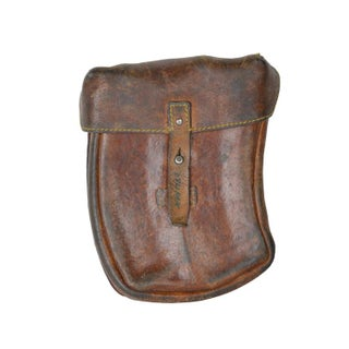 Vintage Rustic Brown Leather Pouch