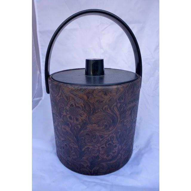 Mid-Century Modern Floral Ice Bucket - Image 2 of 7