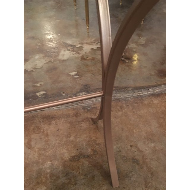 Lucite Object d'art with Rose Tone Metal Side Table by AMK for Patricia Kagan - Image 7 of 11
