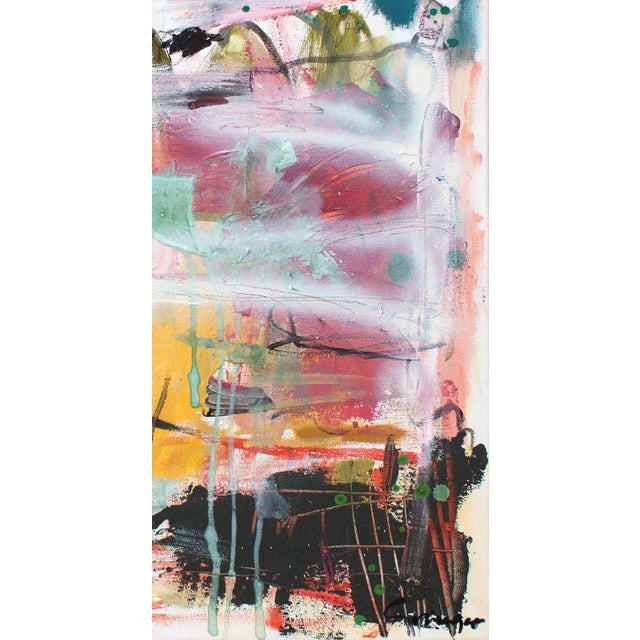 """Lesley Grainger """"Lushberry"""" Original Abstract Painting - Image 4 of 4"""