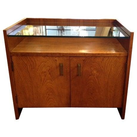 Vintage Modern Nightstand with Glass Shelf - Image 1 of 3