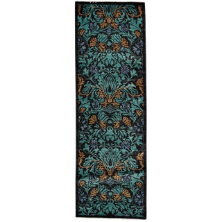 """Arts & Crafts Hand Knotted Runner - 2'7"""" X 7'10"""""""