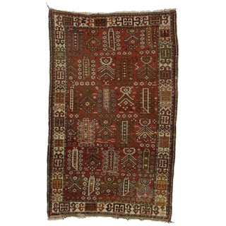 """Hand Knotted Persian Shiraz Rug - 3'9"""" X 5'10"""""""