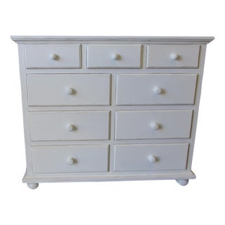 Custom Distressed White Dresser