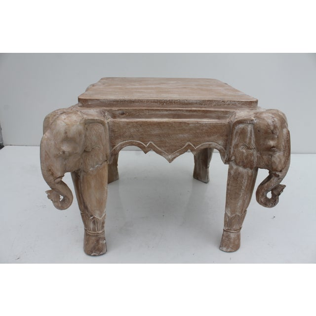 Italian carved wood elephant side coffee table chairish Elephant coffee table