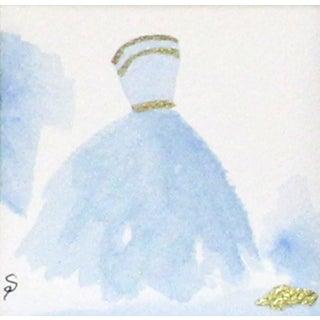 Cinderella Blue Ballgown Painting
