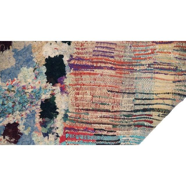 "Vintage Boucherouite Moroccan Carpet - 6'5"" X 4'' - Image 3 of 3"