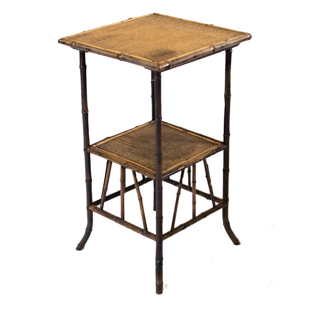 Bamboo End Table - Image 1 of 2