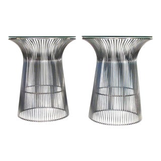 Platner Style Cylinder Tables - A Pair