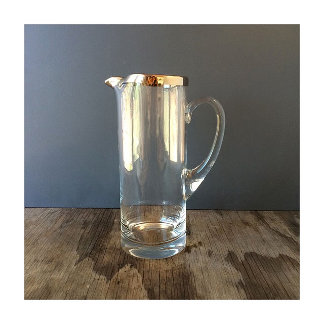 Image of Vintage Silvered Edge Martini Pitcher