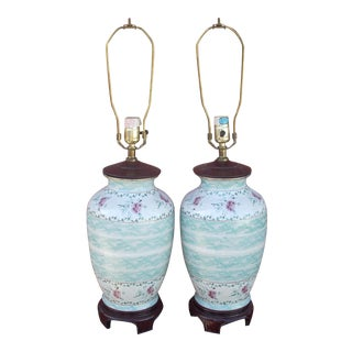 Traditional Ceramic Lamps - A Pair
