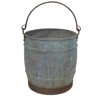 Antique Copper Farm Well Bucket