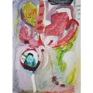 1963 Abstract Expressionist Painting by Selma Moskowitz