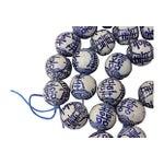 Image of Blue & White Chinese Porcelain Beads - Set of 50