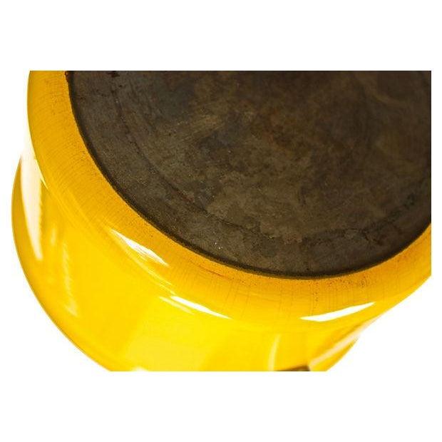 Image of Modern Yellow Enameled Fondue Set - 10 Pieces