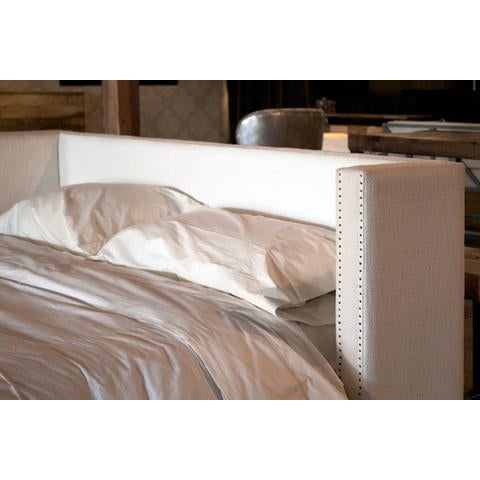 Image of Upholstered Platform Bed W/ Nailhead - Full