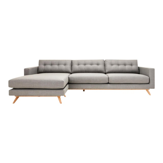 Image of Clad Home Mid-Century Style Grey Sectional