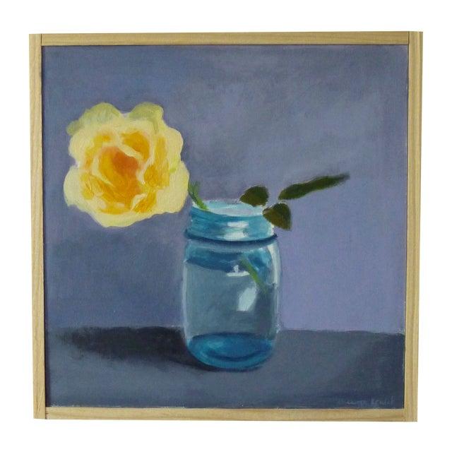 "Original Painting ""Yellow Rose"" - Image 1 of 7"