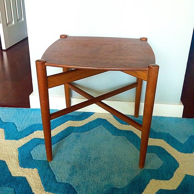 Image of Mid-Century Danish Teak Folding Side Table