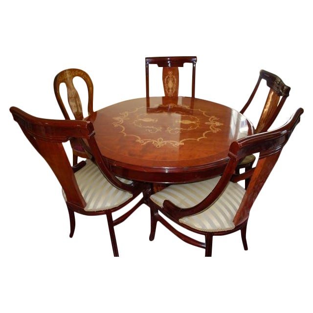Image of French Louis XV Inlaid Dining Set