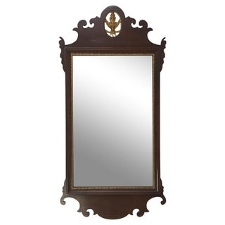 Mahogany Chippendale Mirror With Gilt Detail