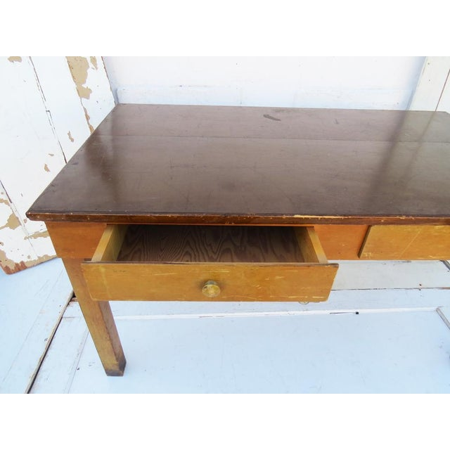 Vintage 1940's Academia Library Table / Desk - Image 4 of 5