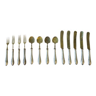 Antique French Flatware Set - Set of 13