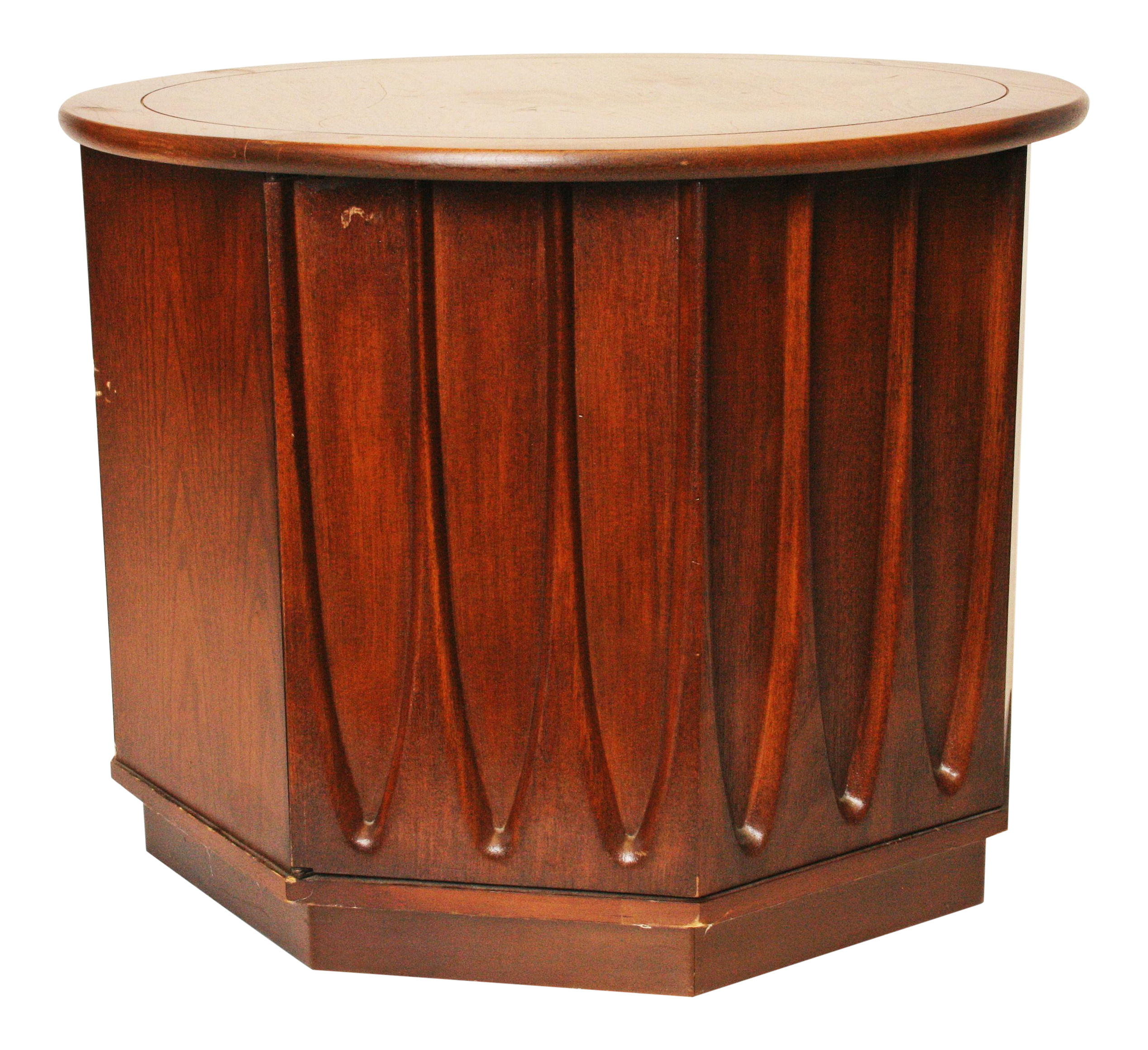 Harvey Probber Style Mid Century Modern Octagon Side Table   Image 1 Of 11