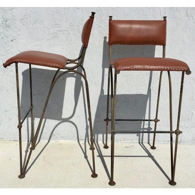 Ilana Goor Style Bar Stools - A Pair - Image 2 of 7