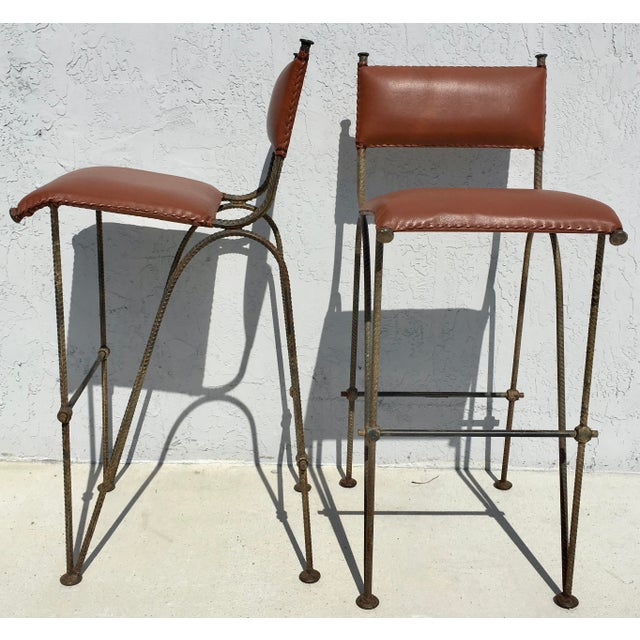 Image of Ilana Goor Style Bar Stools - A Pair