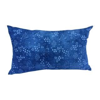 Faded Indigo Batik Pillow