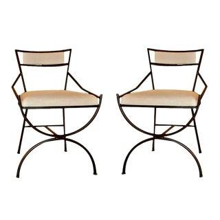 Pair of Mid Century Iron Chairs