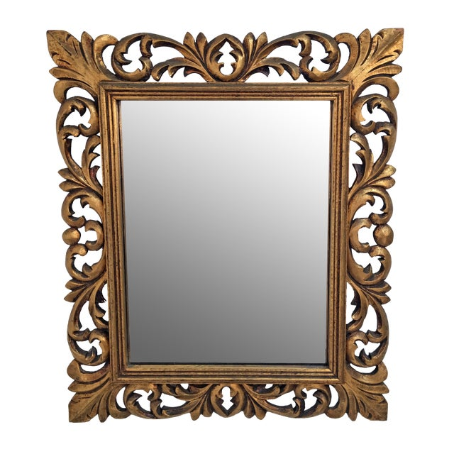 Italian Carved Wood & Gilt Mirror - Image 1 of 7