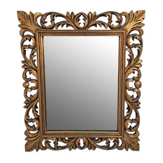 Italian Carved Wood & Gilt Mirror